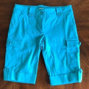 Cachè blue bermuda shorts size 6
